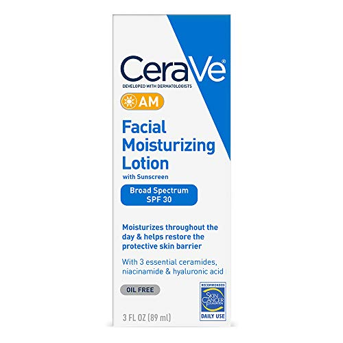 Cerave - CeraVe Facial Moisturizing Lotion AM SPF 30 | 3 Ounce | Daily Face Moisturizer with SPF | Fragrance Free
