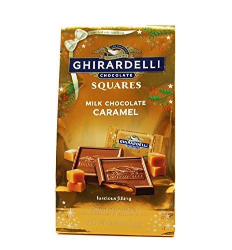 Ghirardelli - Ghirardelli Milk Chocolate Caramel Squares, Holiday Limited Edition Bag, 9 Ounces