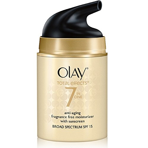 Olay - OLAY Total Effects 7-in-1 Anti-Aging Face Moisturizer with SPF 15, Fragrance-Free 1.7 oz