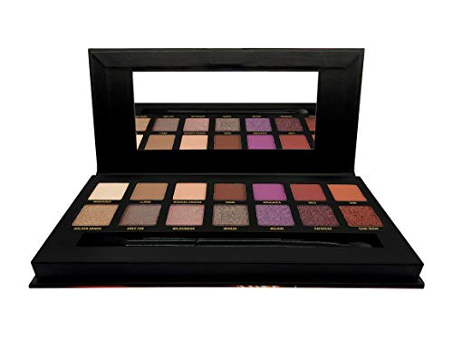 W7 W7   Dusk Till Dawn Pressed Pigment Eyeshadow Palette   14 Shades of Ultra Violet Neutrals in Matte, Shimmer and Glittery-Foil Finishes   Long Lasting and Easy to Use