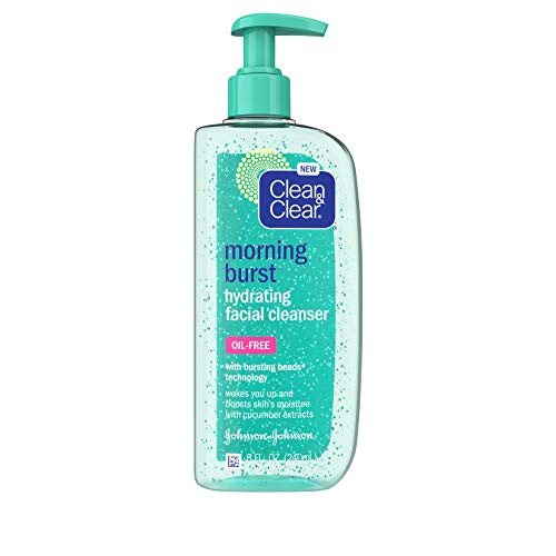 Clean & Clear - Clean & Clear Morning Burst Oil-Free Hydrating Facial Cleanser with Cucumber & Green Mango Extract, Gentle Daily Face Wash for All Skin Types, 8 fl. Oz, Pack of 1