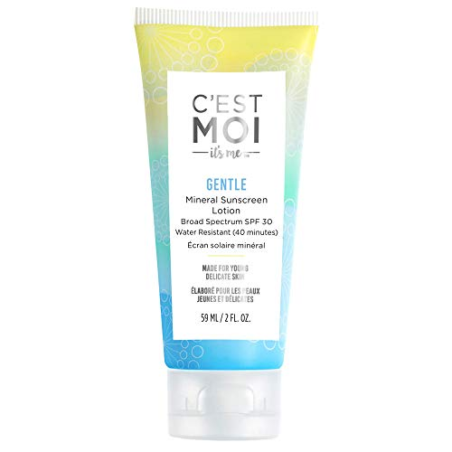 C'Est Moi - C'est Moi Gentle Mineral Sunscreen Lotion Broad Spectrum SPF 30 – Fragrance-Free Lotion made with Zinc Oxide, Organic Aloe and Shea Butter - 2 Fl Oz