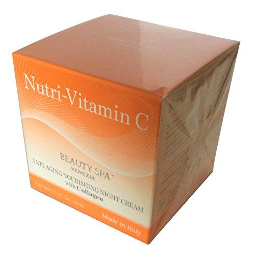 Beauty Spa - Nutri-C2 Nourishing Night Cream with Vitamin C and Collagen 1.7 OZ Anti- Aging