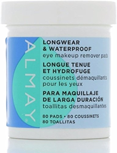 Almay - Almay Eye Makeup Remover Pads, Longwear & Waterproof 80 ea (Pack of 5)