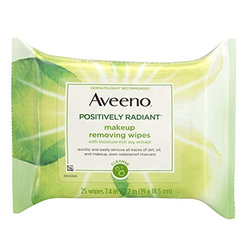Aveeno - Positively Radiant Makeup Removing Wipes
