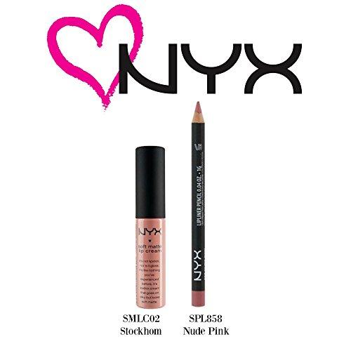 NYX - NYX Soft Matte Lip Cream Stockholm(SMLC02) & Slim Lip Pencil Nude Pink (SPL85...