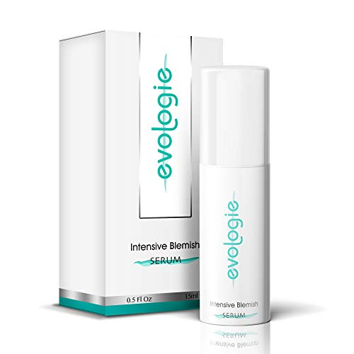Evologie - Evologie Intensive Blemish Serum with Natural Ingredients Rapidly Reduces Blemishes, Pimples, Lighten Dark Spots, Help Acne Scars without Dryness or Irritation (15 ml)