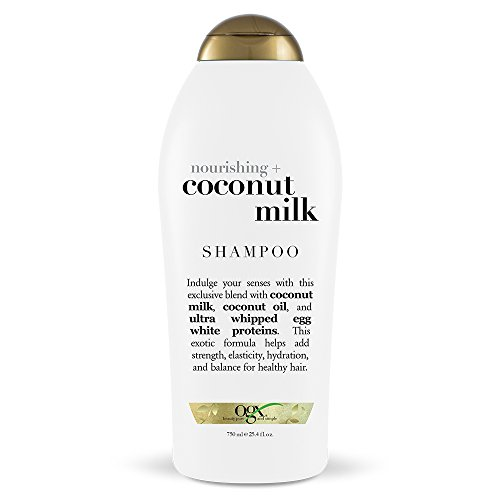 Ogx - OGX Nourishing Shampoo, Coconut Milk, Salon Size, (1) 25.4 Ounce Bottle, Paraben Free, Sulfate Free, Sustainable Ingredients, Hydrating, Balancing and Strengthening