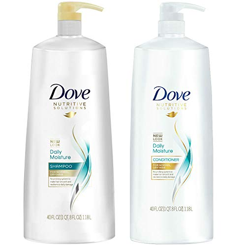 Dove - Dove Nutritive Solutions Daily Moisture, Shampoo and Conditioner Duo Set, 40 Ounce Pump Bottles