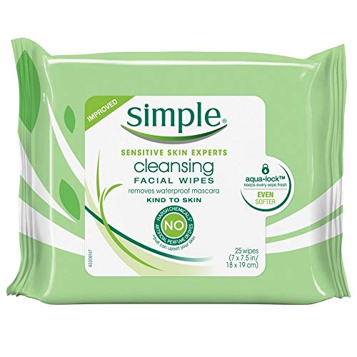 Simple - Simple Cleansing Facial Wipes 25 Count (6 Pack)