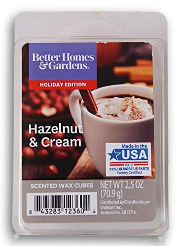 Seasonal Décor Better Homes and Gardens Scented Wax Cubes 2020 Editions - Hazelnut & Cream - 2.5 Oz