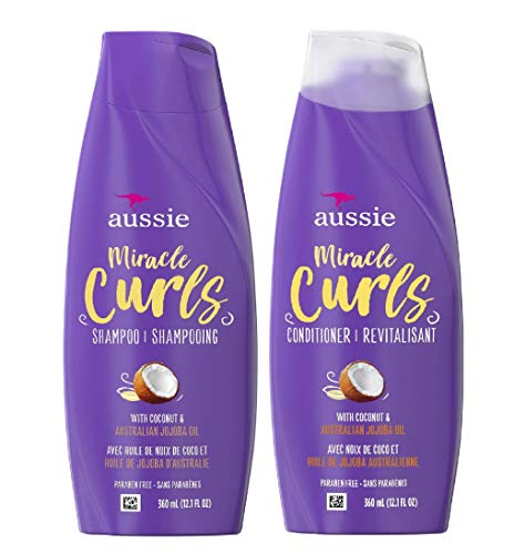 Aussie Miracle Curls - Aussie Miracle Curls Shampoo and Conditioner Set with coconut & australian jojoba oil-12.1 fl oz each