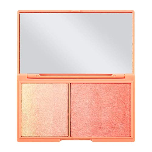 Makeup Revolution Highlighter Illuminator Duo, Peach and Glow Chocolate Duo