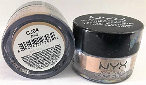 NYX Pack of 2 NYX Above & Beyond Full Coverage Concealer, CJ04 Beige