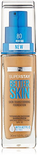 Maybelline - Maybelline New York SuperStay Better Skin Foundation, Riche Tan 1 oz (Pack of 2)