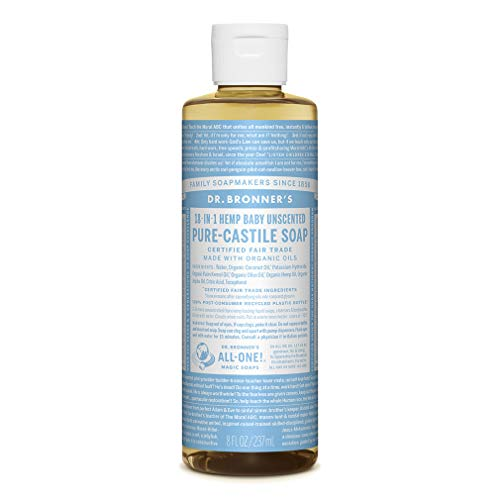 Dr. Bronner'S - Dr. Bronner's Pure-Castile Liquid Soap – Baby Unscented - 8 Ounce