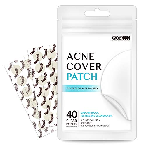 Avarelle - Avarelle Acne Absorbing Cover Patch Hydrocolloid, Tea Tree, Calendula Oil, CICA (40 ROUND PATCHES)