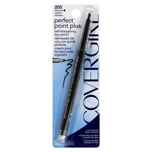 Covergirl - COVERGIRL Perfect Point PLUS Eyeliner, One Pencil, Charcoal Color, Self Sharpening Eyeliner Pencil, Smudger Tip for Blending (packaging may vary)