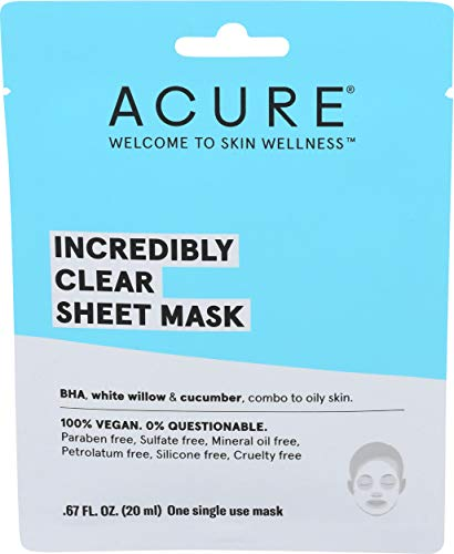 Acure - Acure, Mask Sheet Incredibly Clear, 0.676 Fl Oz