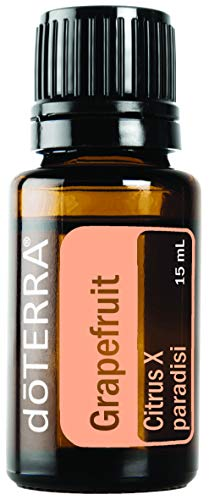 Doterra - doTERRA Grapefruit Essential Oil - Improves the Appearance of Blemishes, Supports Healthy Metabolism, Uplifts Mood; For Diffusion, Internal, or Topical Use - 15 ml