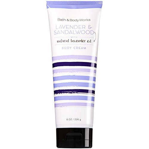 Bath & Body Works - Bath and Body Works Lavender and Sandalwood Body Cream 8 Ounce Full Size Moisturizing Cream