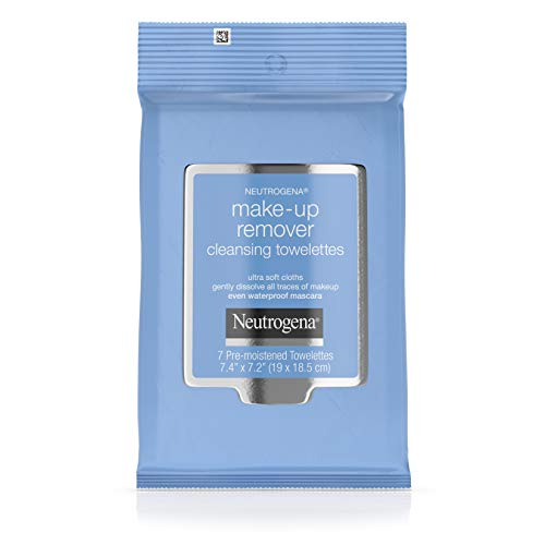 Neutrogena - Neutrogena Makeup Remover Cleansing Towelette Singles, Daily Face Wipes To Remove Dirt, Oil, Makeup & Waterproof Mascara, Individually Wrapped, 20 Count (Pack of 3)