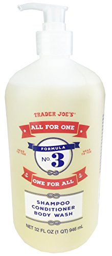 """Trader Joe'S - Formula No.3 """"All for One, One for All"""" Shampoo Conditioner & Body Wash"""