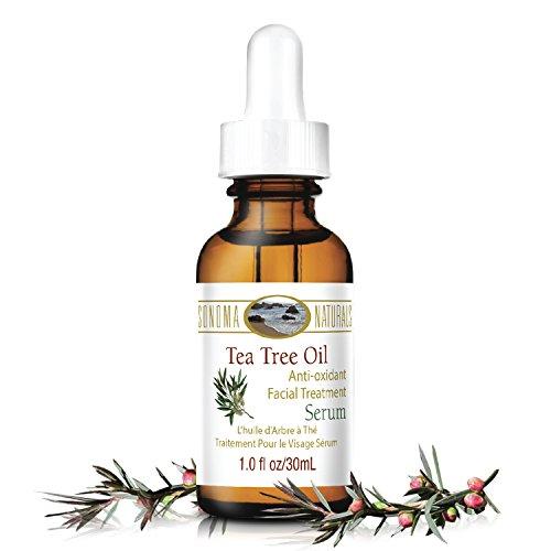 Sonoma Naturals - Sonoma Naturals Tea Tree Oil Serum for Face, 1 oz | Acne & Dry Skin | Pore Minimizer | Skin Moisturizing & Healing | Anti Oxidant Rich | Anticeptic & Antifungal