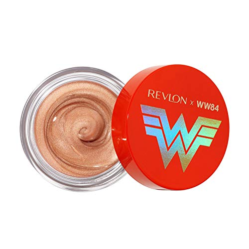 Revlon REVLON x WW84 Wonder Woman Liquid Armor Glow Pot, Glossy Eye and Face Jelly Highlighter, in Champagne, 001 Golden Lasso, 0.24 oz