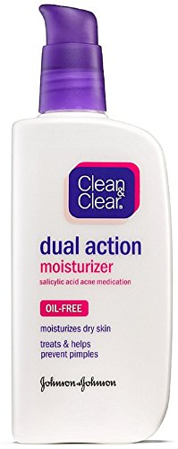 Clean & Clear - CLEAN & CLEAR Dual Action Oil-Free Moisturizer 4 oz