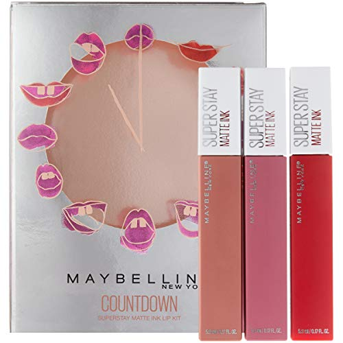 Maybelline - Maybelline New York Superstay Matte Ink Liquid Lipstick Makeup Holiday Kit, Lover/Pioneer/Seductress