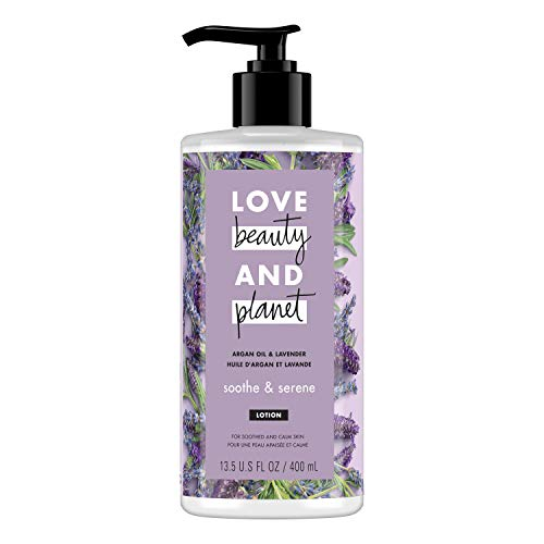 Love, Beauty & Planet - Love Beauty and Planet Argan Oil & Lavender Body Lotion, Soothe & Serene, 13.5 oz