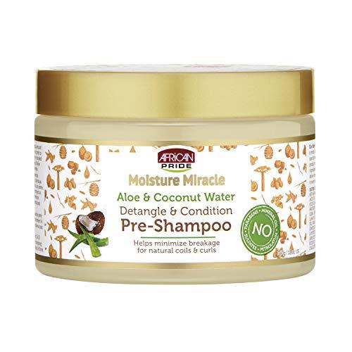 African Pride - Moisture Miracle Aloe & Coconut Water, Detangle & Condition Pre-Shampoo