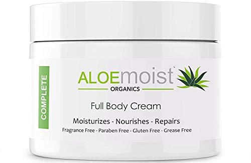 Aloemoist - Moisturizer for Face and Body with Organic Aloe, Retinol, Vitamin E, C, Green Tea, Kukui Nut Oil, Grape Seed Oil, Shea Butter – Great for Sensitive, Dry & Itchy Skin