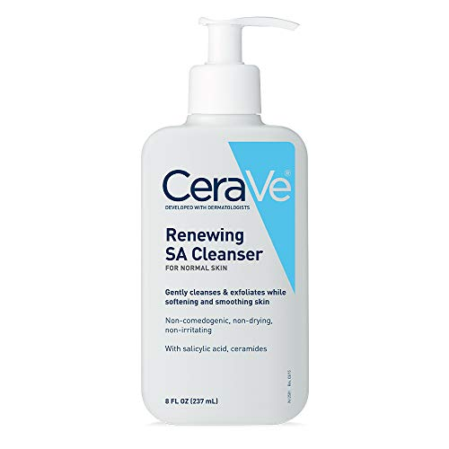 Cerave - CeraVe Salicylic Acid Cleanser   8 Ounce   Renewing Exfoliating Face Wash with Vitamin D for Rough and Bumpy Skin   Packaging May Vary