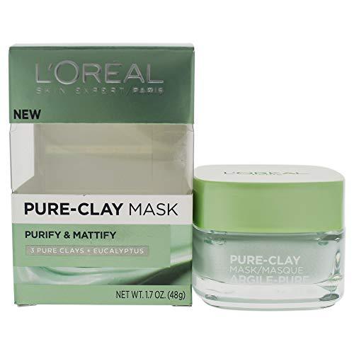 L'Oreal Paris - Skincare Pure-Clay Face Mask with Eucalyptus