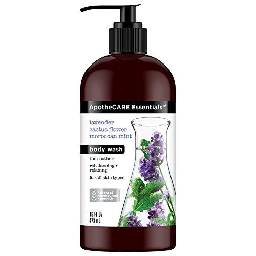 APC PW - ApotheCARE Essentials Body Wash, Lavender, Cactus Flower, Moroccan Mint, 16 oz