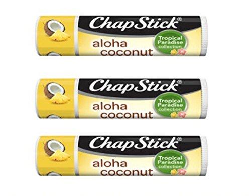 Chapstick - Chapstick Aloha Coconut Tropical Paradise .15 Oz Lip Balm 3 Pack