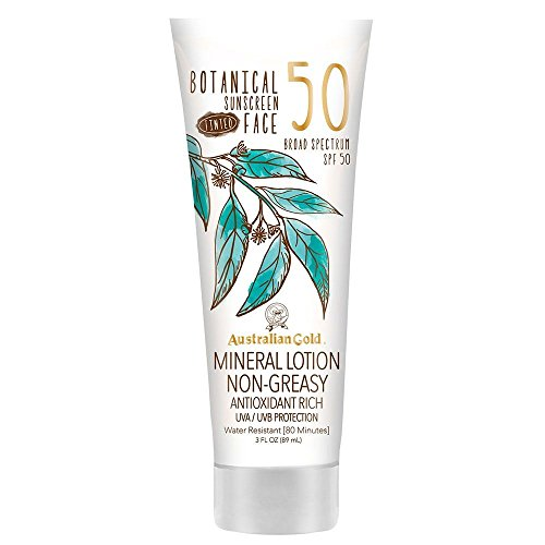 Australian Gold - Botanical Sunscreen Tinted Face Mineral Lotion SPF 50