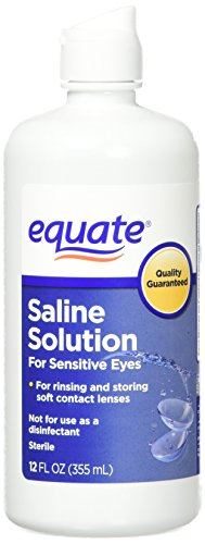 Equate - Equate Contact Lens Saline Solution for Sensitive Eyes, Twin Pack, 12 Fl Oz, 24 Total Oz (Compare to Bausch & Lomb Eyes Plus)