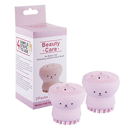 Beauty Care - Beauty Care Cleaner Facial Brush, Jellyfish Silicon Face Brush,Exfoliating Silicone Facial Scrubber,Deep Pore Cleaning Brush,Octopus face brush,My Beauty Tool Brush, Baby Shower Brush(2 Pack)