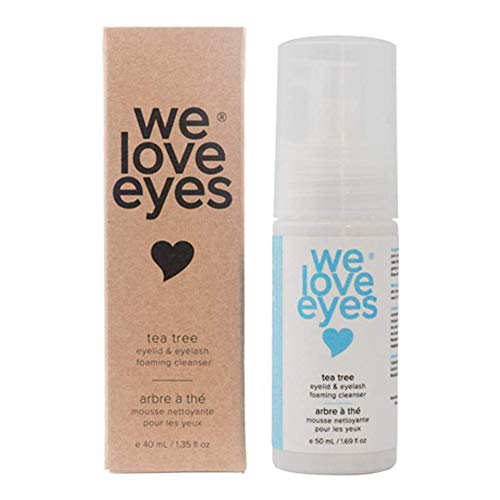 We Love Eyes - All Natural Tea Tree Eyelid Foaming Cleanser/Wash - We Love Eyes -Blepharitis, Demodex, Dry Eyes Relief and treatment, Wash Eyelashes, Reduce Itching and Inflammation, Paraben & Sulfate Free -50 ml