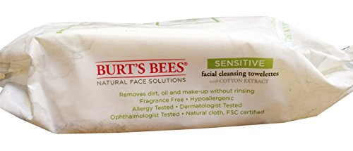 Burts Bees - Burt's Bees Facial Cleansing Towelettes for Sensitive Skin- 30 Count