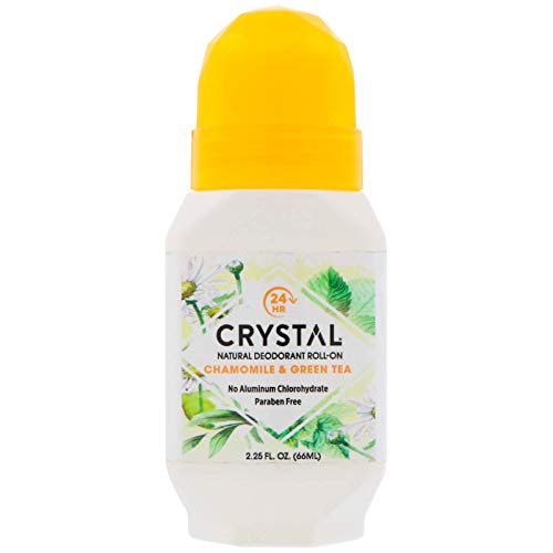 CRYSTAL Deodorant - Crystal Deodorant Essence Roll-On 2.25oz Chamomile/Green Tea (3 Pack)