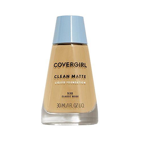 Covergirl - COVERGIRL Clean Matte Liquid Foundation Classic Beige 530, 1 oz (Pack of 2)