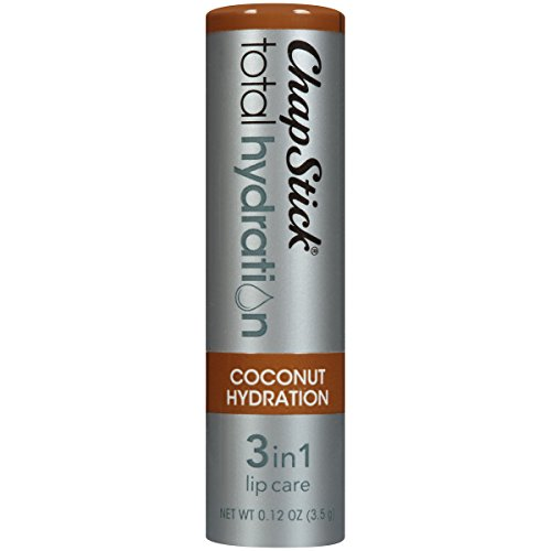 Chapstick - ChapStick Total Hydration (Coconut Hydration Flavor, 1 Blister Pack of 1 Stick) Flavored Lip Balm Tube, 3 in 1 Lip Care, Contains Omegas 3/6/9, 0.12 Ounce