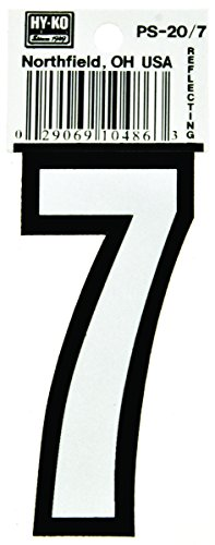Hy-Ko - HY-KO Products Reflective Number House 7 3-1/4 inch