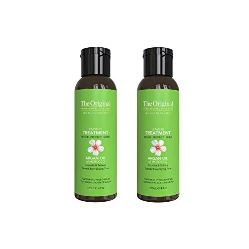 Dermorganic - DermOrganic Leave-in Argan Oil Treatment - Repair, Protect, Shine, 4 fl.oz. (Pack of 2)