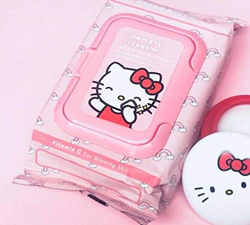 The Creme Shop - The Crème Shop Korean Cute Gentle and Fresh Advanced Scented Make Up Removal - The Crème Shop x Sanrio 20 Pre Wet Towelettes