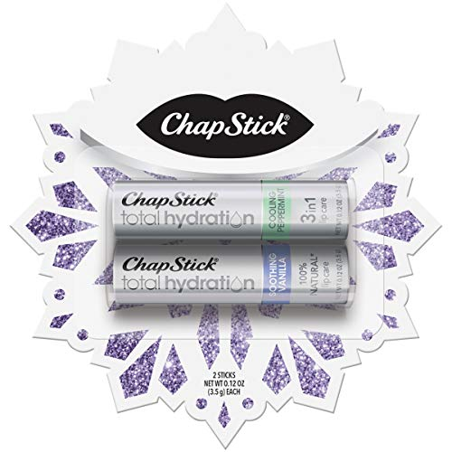 Chapstick - ChapStick Valentines Day Gifts for Her,Total Hydration Lip Balm(Soothing Vanilla, Cooling Peppermint, 0.15 Ounce, 2 Sticks),Lip Care,Moisturizer and Therapy, Skin Protectant,Great Gifts for Women